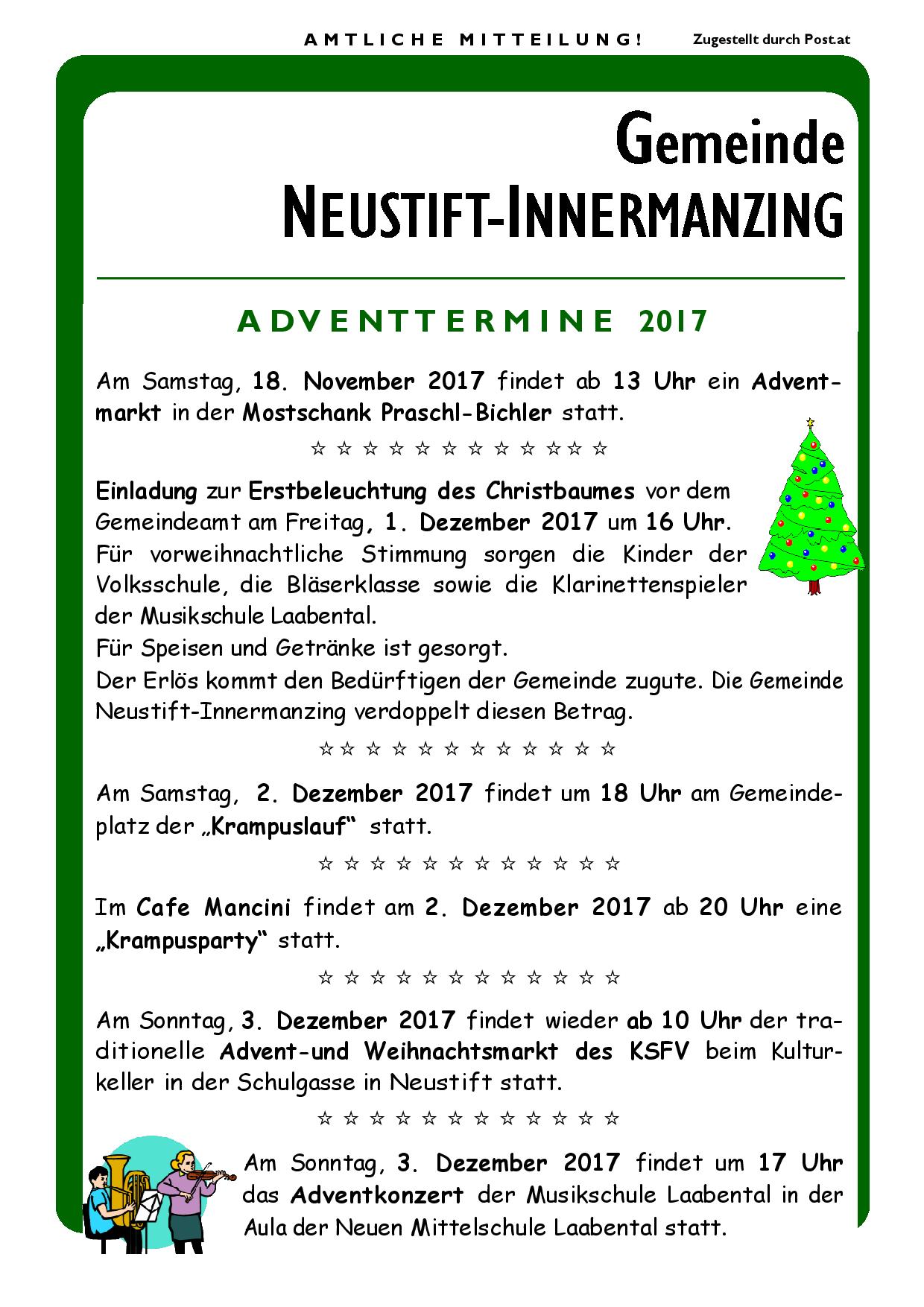 Gemeinde-Rundschreiben 2017 Advent - Offizielle Website der ...